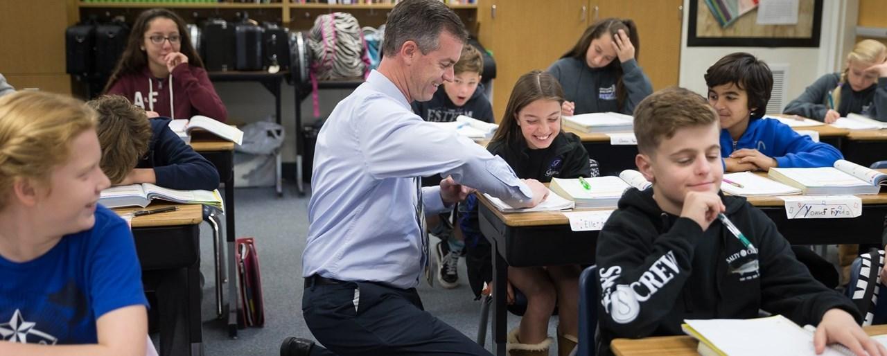 Fugman - teacher in classroom
